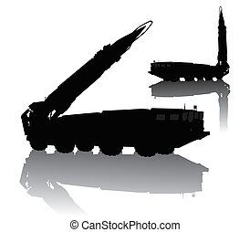 Silhouette of Scud missile launcher