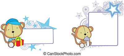 monkey baby cartoon copyspace