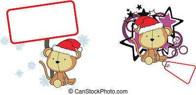 monkey claus cartoon copyspace