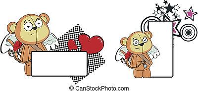monkey cupid cartoon copyspace