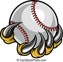 Monster claw holding Baseball Ball