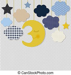 Moon And Stars Border Transparent Background