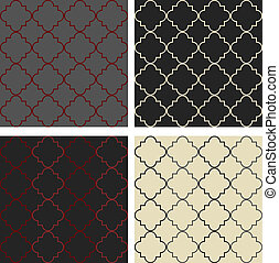 4 Moroccan style seamless patterns