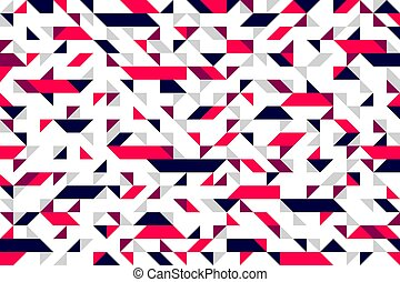 Mosaic seamless pattern, geometric chaotic tiling vector background for wallpapers, wrapping paper or website backgrounds.