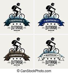Mountain biking logo design.