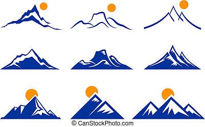 Mountain Icons Original Vector Illustration Nsture Concept