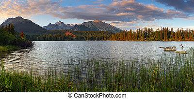 Mountain Lake in Slovakia Tatra - Strbske Pleso