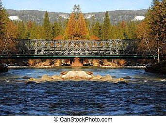 Mountain River Bridge 2