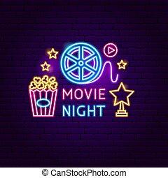 Movie Night Neon Sign