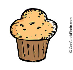 muffin in doodle style