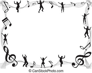 music note frame