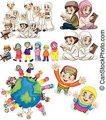 Muslim families around the world