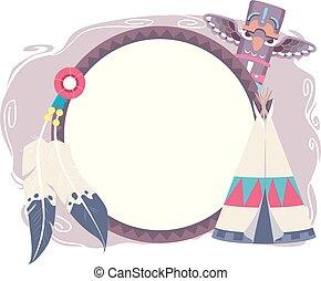 Native American Frame Design Illustration