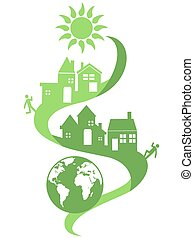 the green eco background of natural community