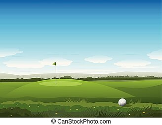 Nature golf vector background