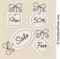 needlework labels set