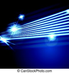 Neon glowing laser beams lines abstract background