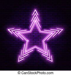 Neon star with beams