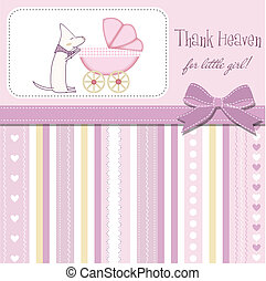 New baby girl announcement card