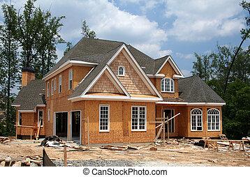 A brand new home still under construction.