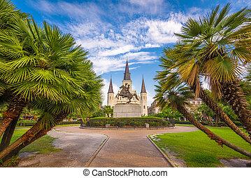 New Orleans, Louisiana, USA at Jackson Square