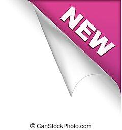 New purple page corner