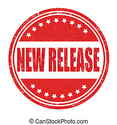 New release grunge rubber stamp on white, vector illustration