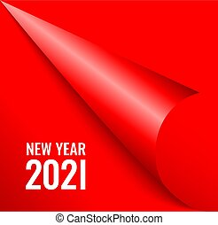 New Year 2021 page corner, Christmas design element