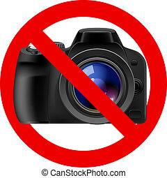 No camera allowed sign. Illustration on white background