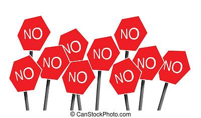 No signposts