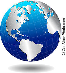 Vector Map Icon of the world in Globe form