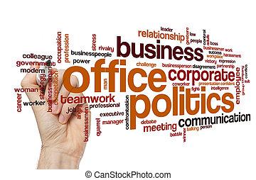 Office politics word cloud concept