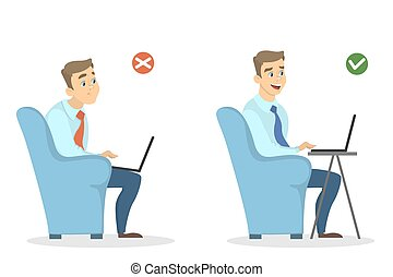 Office sitting position.