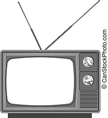 Old tv - television with blank screen. Add your own picture or text
