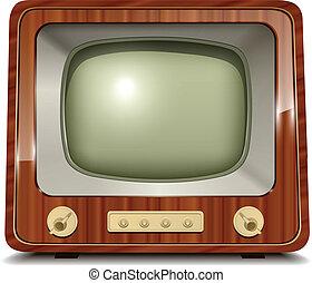 Old tv, vintage vector illustration.