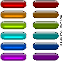 ?olor light glossy glass buttons