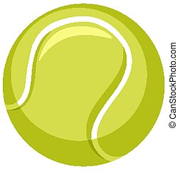 One tennis ball on white background