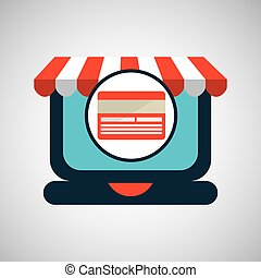 online shopping concept credit card