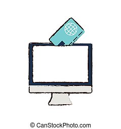 online shopping credit card concept