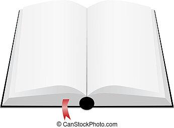 White book open