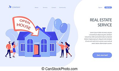 Open house concept landing page.