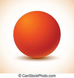 Orange ball.