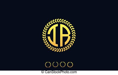 Organization Rounded Initial Letters IR logo. Vector illustration