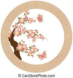 Oriental cherry blossom wallpaper