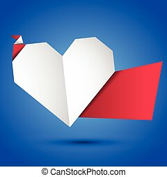 Origami heart.