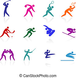 Original vector illustration: competative and olympic sports icon collection