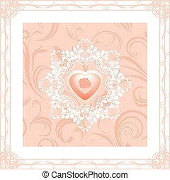 Ornamental frame with heart