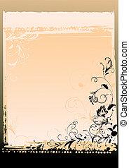 Ornate Floral Letter Background