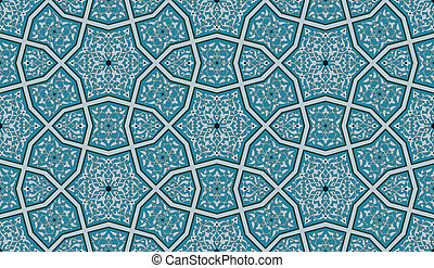An Islamic-style seamless pattern. Each color can be changed.