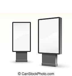 outdoor advertising citylight - vector illustration